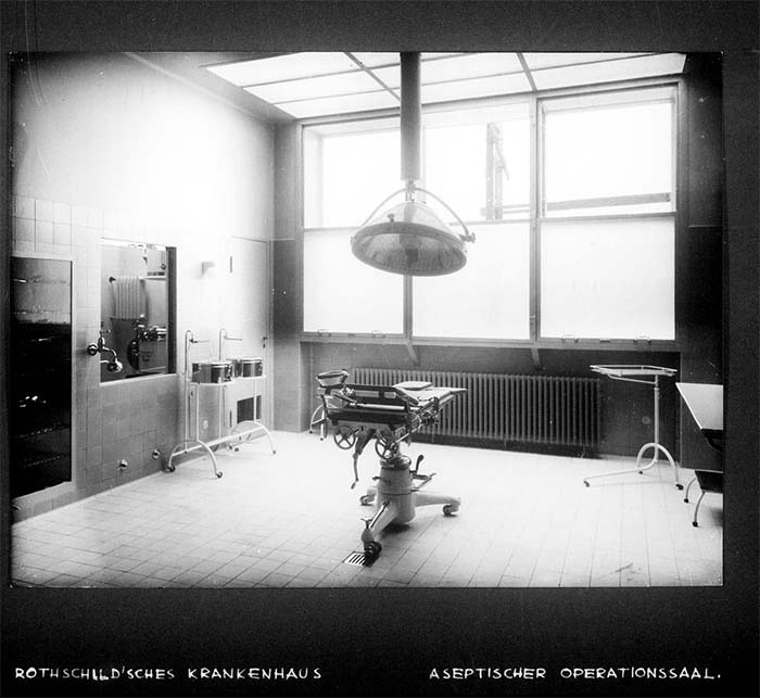 Rothschild'sches Hospital - Nathan - OP-Saal / Rothschild'sches Hospital, Operationssaal, um 1932